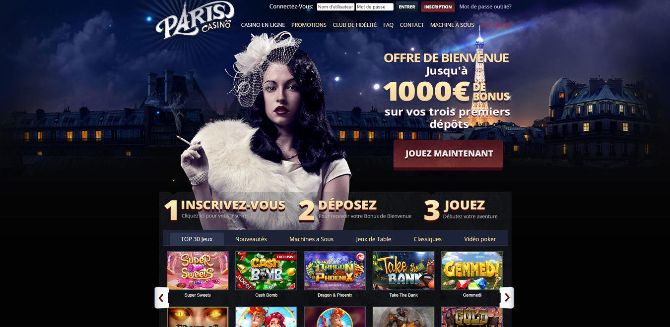 bonus paris casino